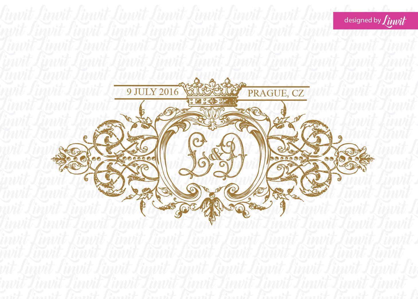 Wedding Logo Vintage Logo Vintage Monogram Wedding Design Etsy Custom Wedding Monogram Wedding Logo Monogram Monogram Wedding