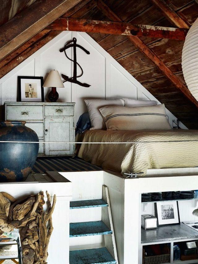 Province Town Beach Cabin Home Attic Bedrooms Bedroom Loft