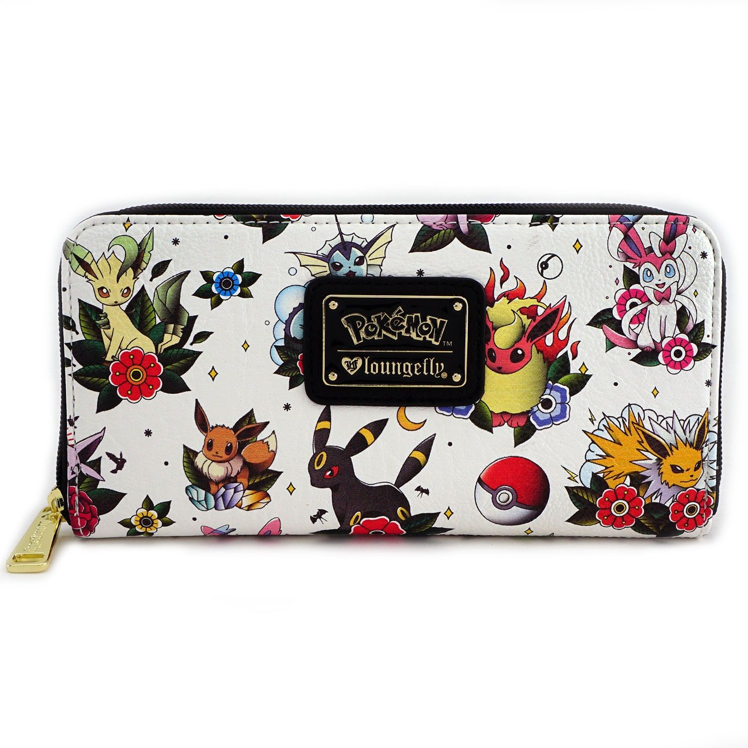 Loungefly x Pokémon Eevee Evolution Tattoo Flash Print Wallet - Wallets 1c3bb253b4d1f