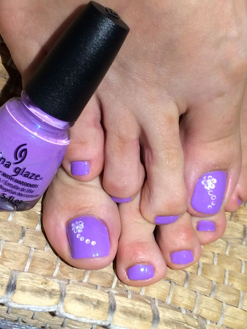 purple toe nails china glaze   The beauty room   Pinterest   Beauty ...