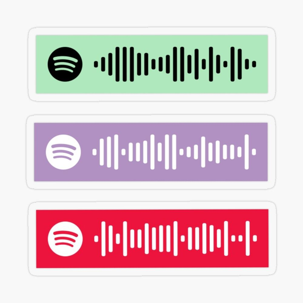 'Meme Songs Spotify Scan Codes' Transparent Sticker by