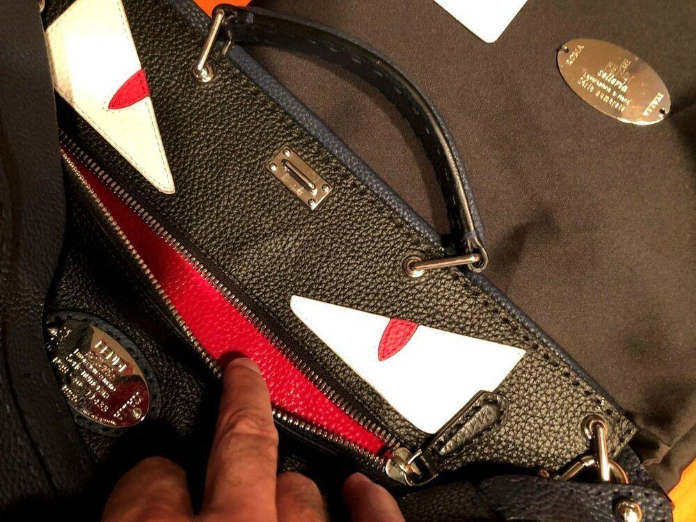 bab7012fbb7b Fendi Selleria Peekaboo Monster Handbag Leather XL  6650+ TAX !!!!  EXCELLENT !