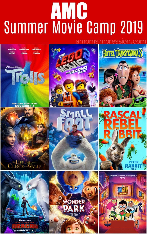Amc Summer Movie Camp 2019 Summer Movie Kid Friendly Movies Kid Movies