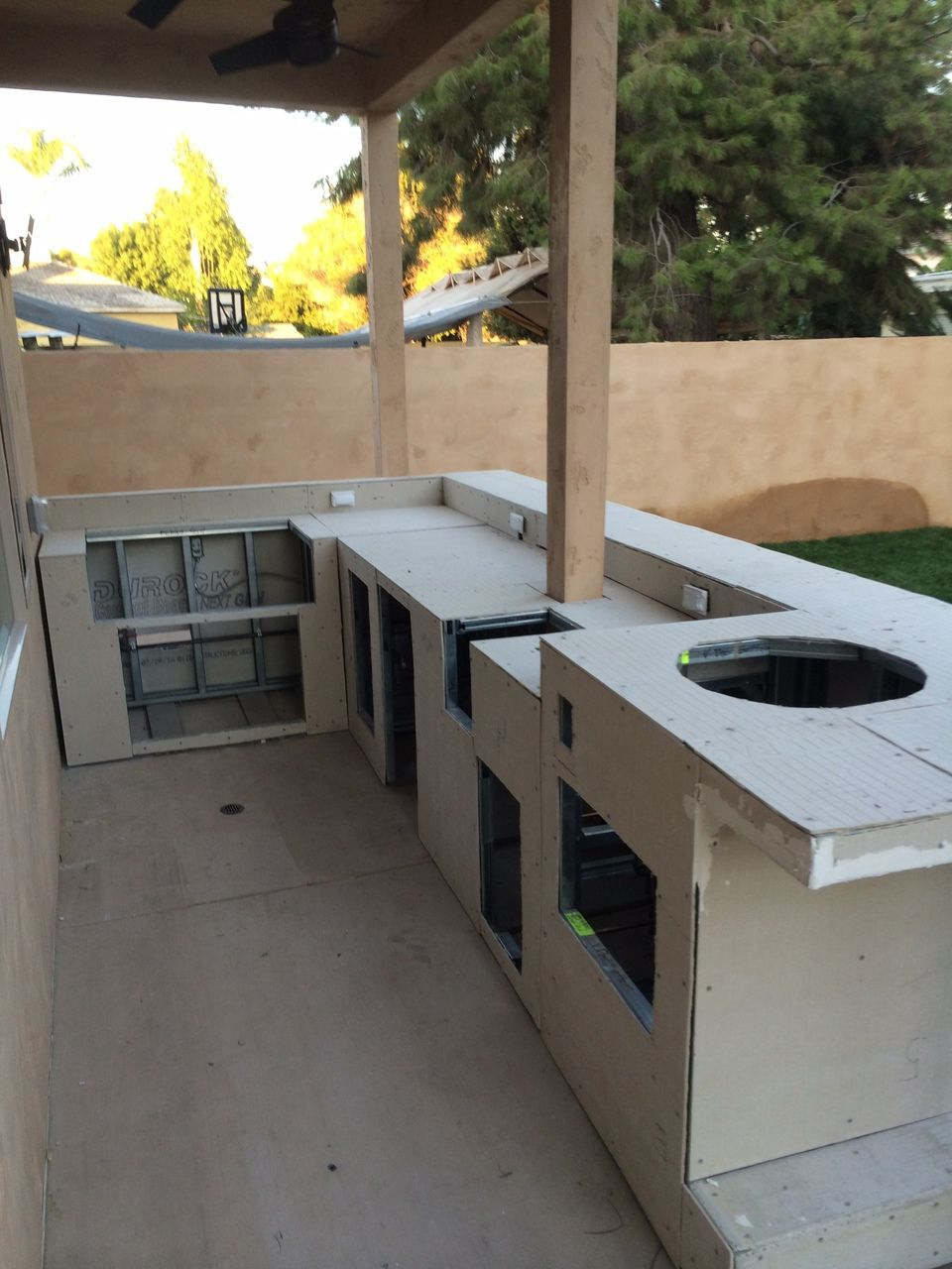 My Idea Metal Framing Cover With Backer Board Redgard And Then Tile Chrisjoi Outdoor Bbq Kitchen Build Outdoor Kitchen Outdoor Kitchen Design