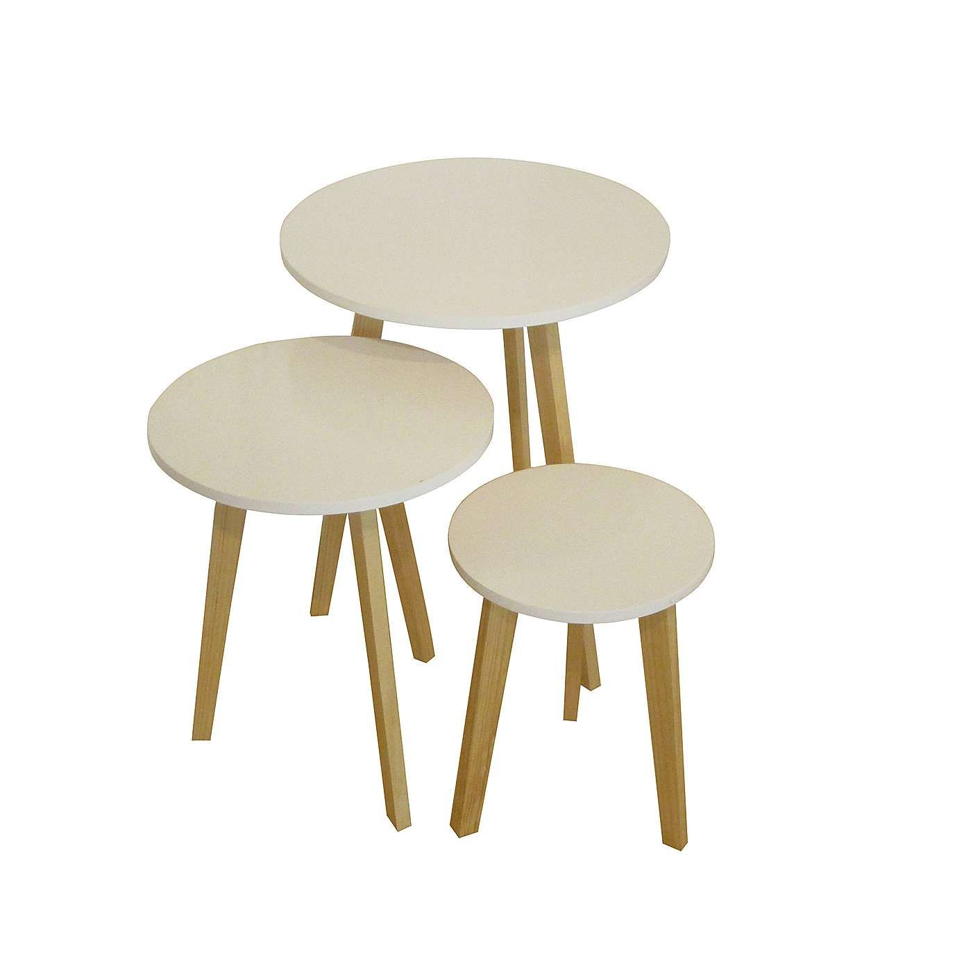Astrid Set Of 3 Tables Dunelm 49 Table Coffee Table Round Table Top [ 1389 x 1389 Pixel ]