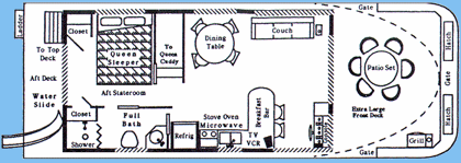 House Boat Floor Plans House Boat Boat House Interior Unique