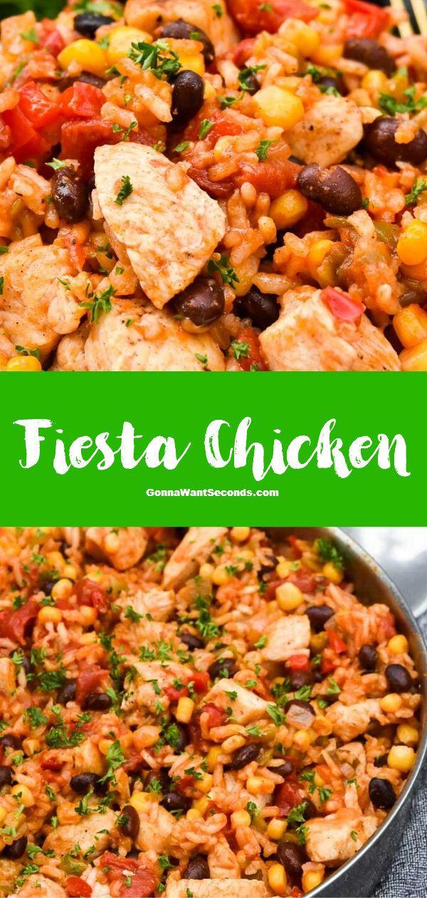 Fiesta Chicken (One Skillet Wonder!)