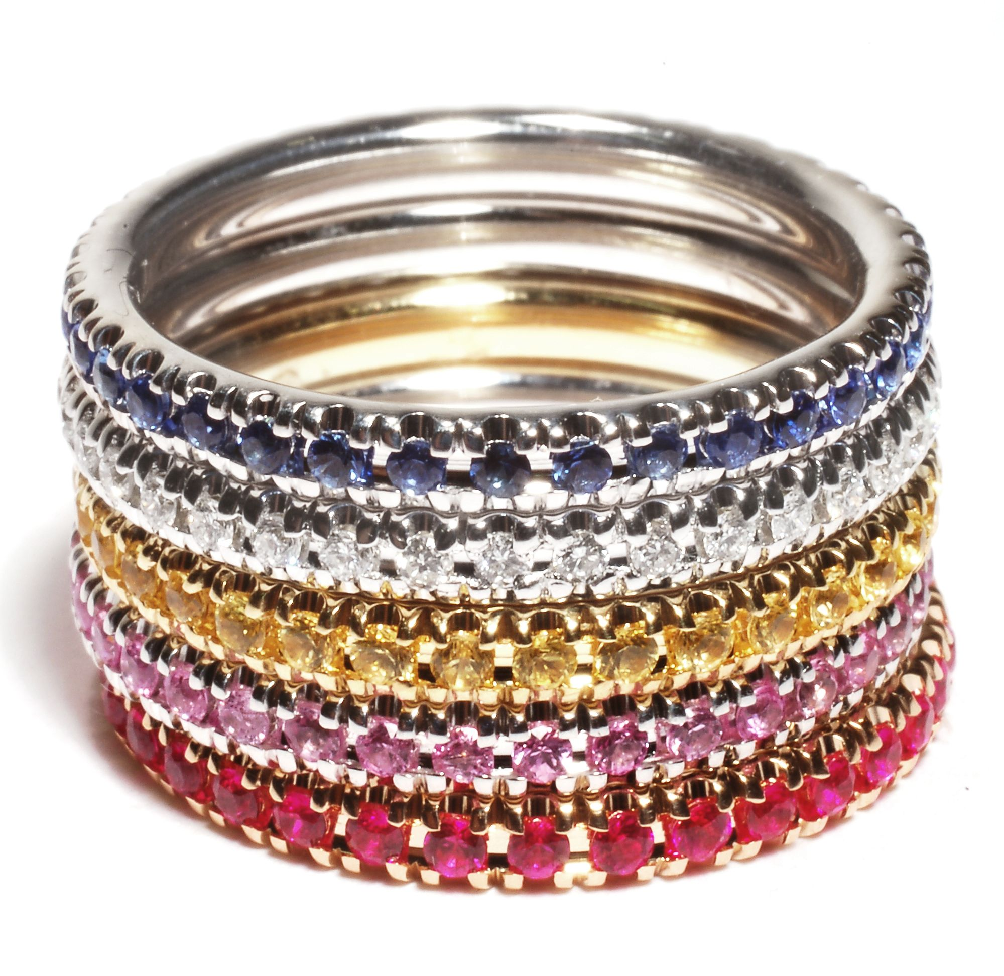 Stackable rings w kids birthstones emily jae pinterest ring