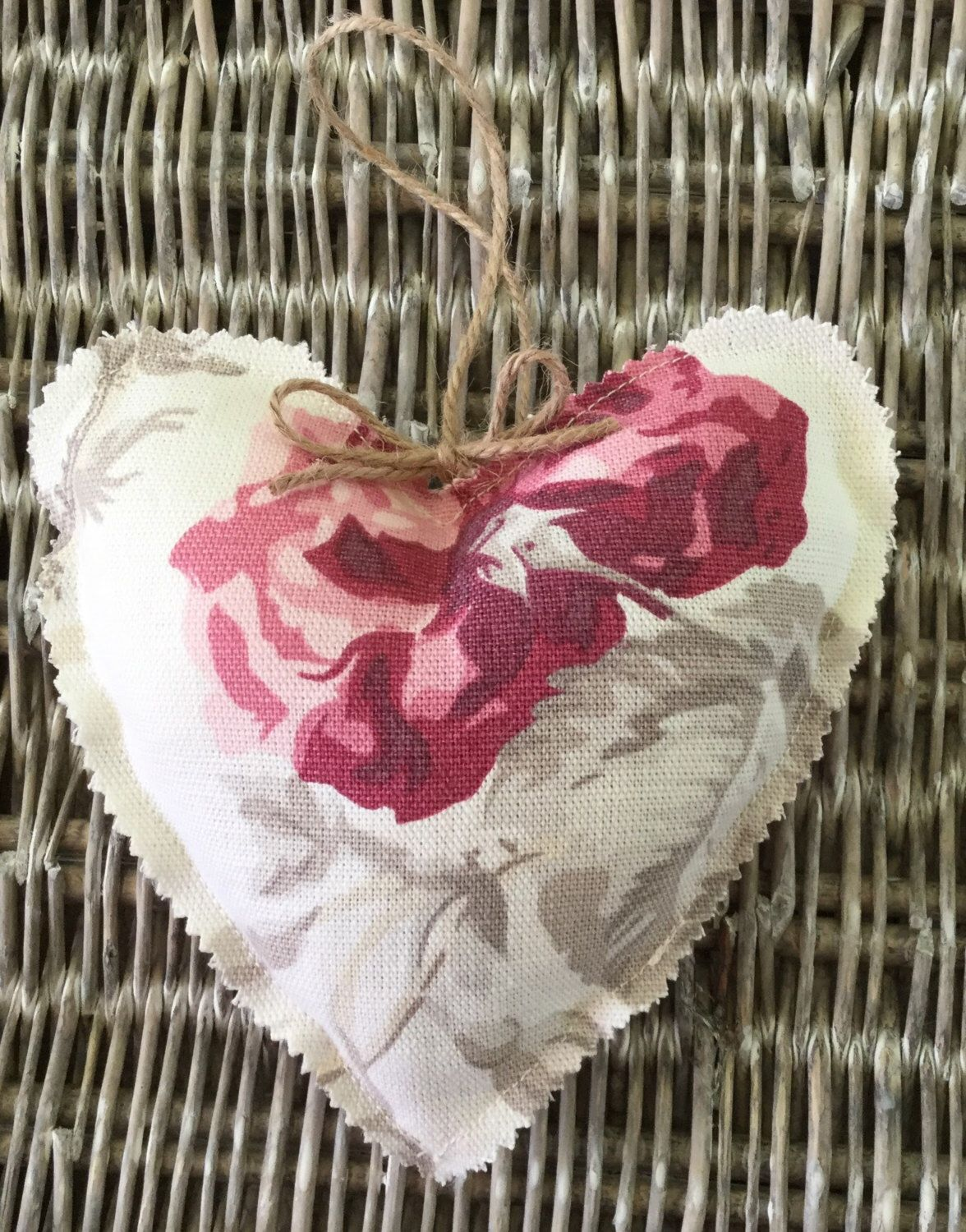 Hanging heart decoration shabby chic home decor Hanging