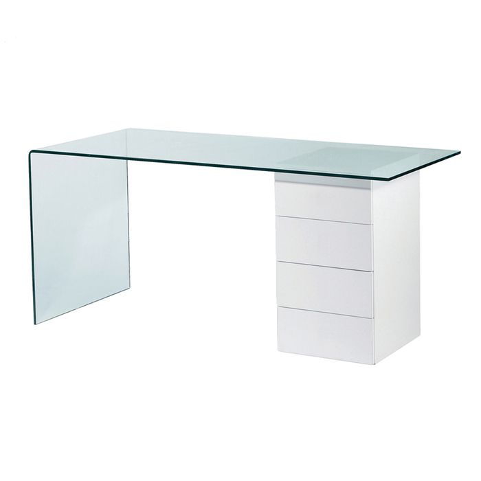Refract Glass Desk With Drawers Dwell 549 Desk With Drawers Glass Desk Best Home Office Desk