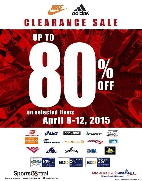 Sports Central is having an clearance sale and its up to off on Nike and  Adidas shoes!