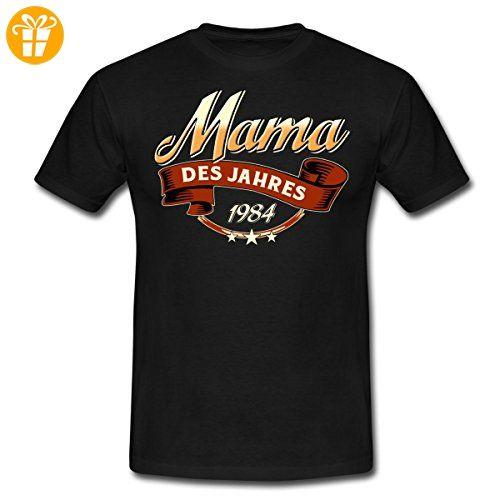 Mama Des Jahres Jahrgang 1984 RAHMENLOS Geschenk Männer T-Shirt von Spreadshirt®, 3XL, Schwarz - Shirts zum 30 geburtstag (*Partner-Link)