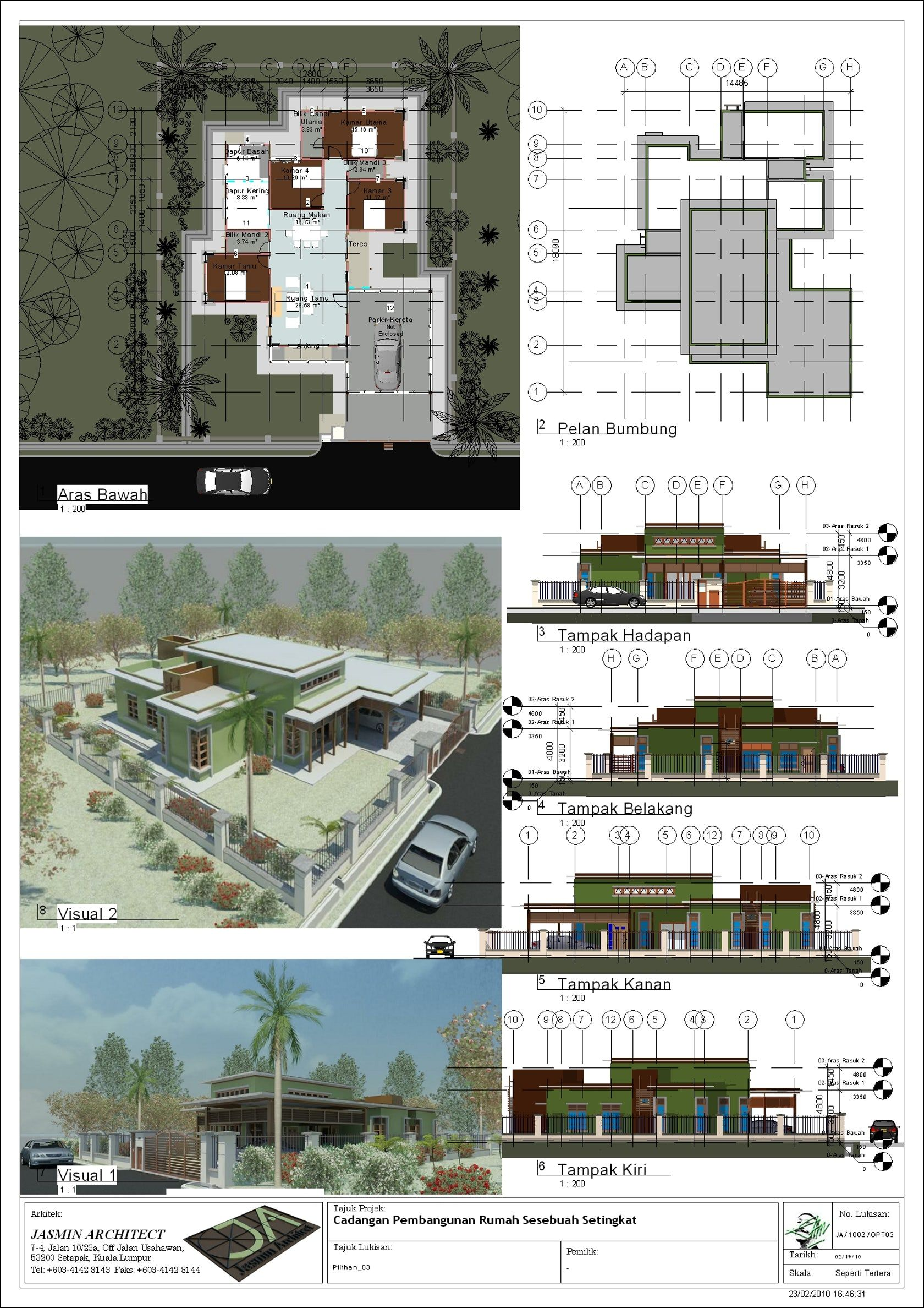 Proposing A Unique Blend Of Simplicity And Practicality To Four Types Of Single Storey Bungalows That Incor Bungalow Design Bungalow House Floor Plans Bungalow