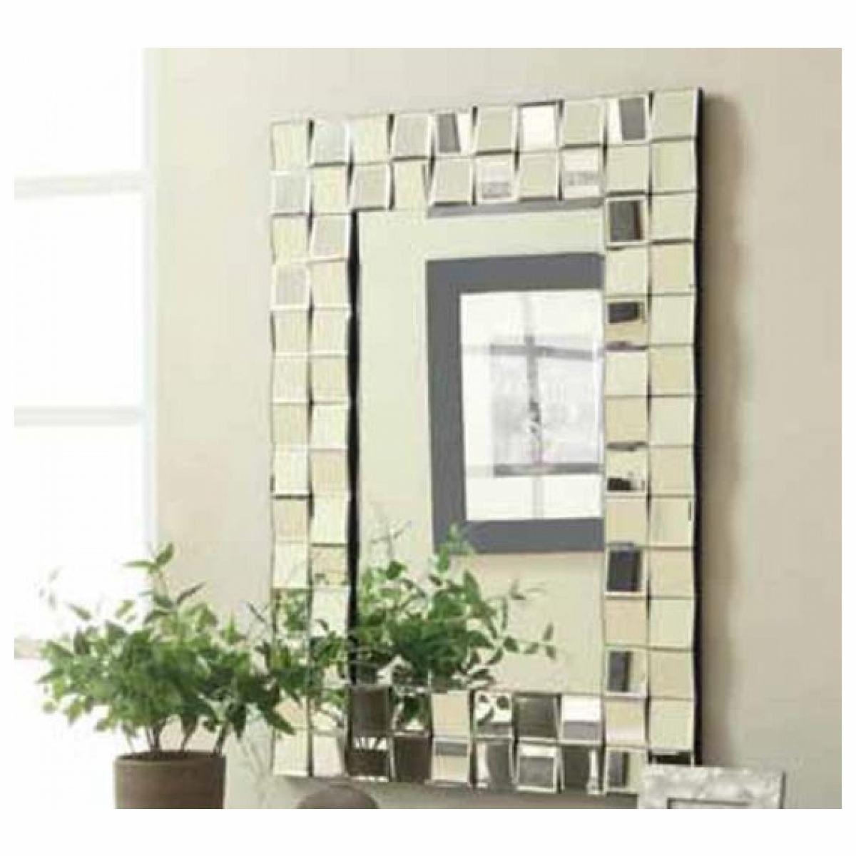 For Sale Checkered Zigzag Outer Edge Framed Rectangular Design Frameless Decorative Wall Mirror Mirror Wall Living Room Modern Mirror Wall Mirror Design Wall #rectangle #mirrors #for #living #room