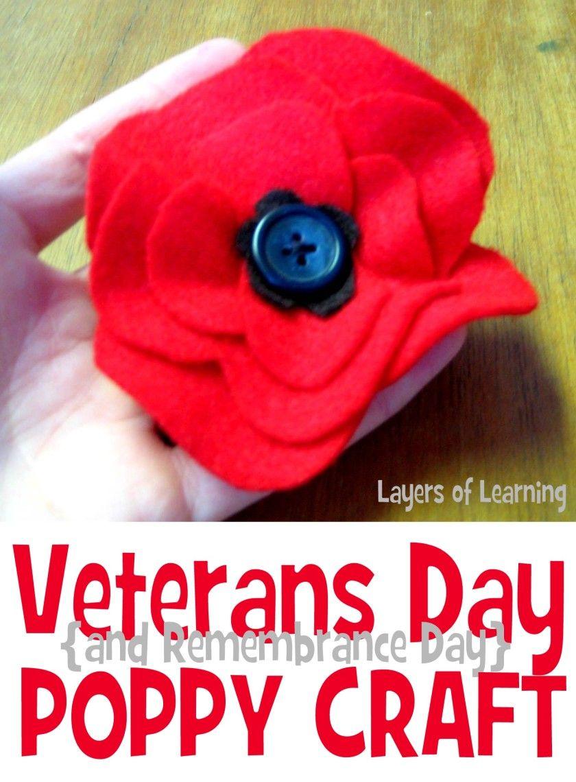 Veterans Day Poppy Craft Pinterest November Craft And Girl Guides