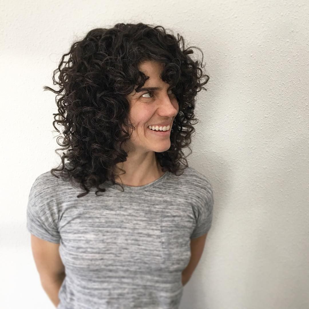 proof that you can rock a curly shag haircut | curly girly