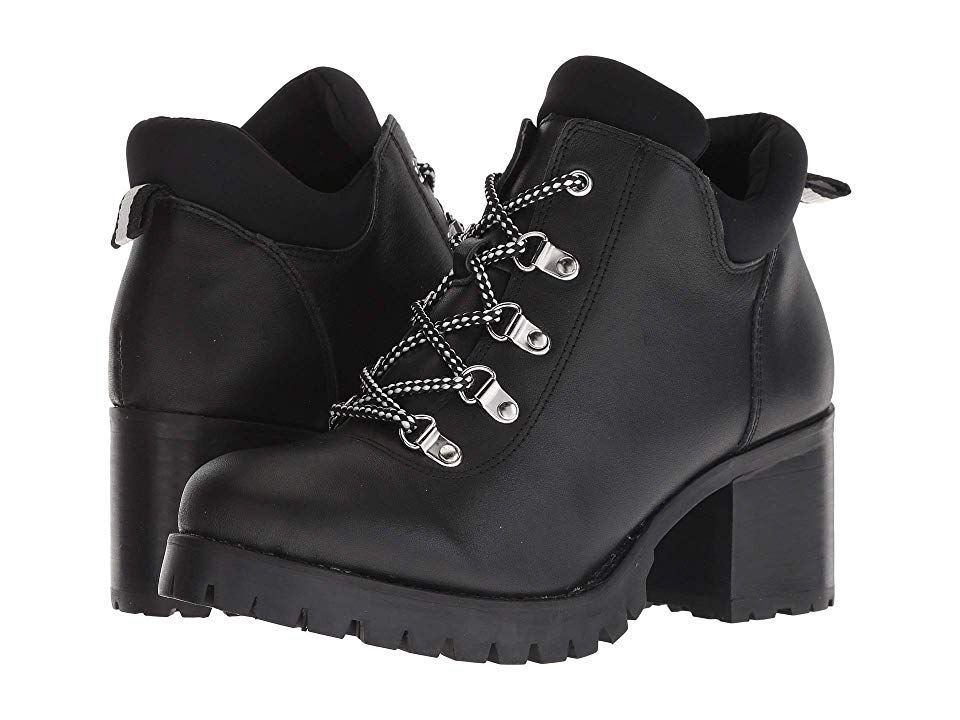 a9218d6b1fac9 JANE AND THE SHOE Meesh Women's Lace-up Boots Black Leather ...
