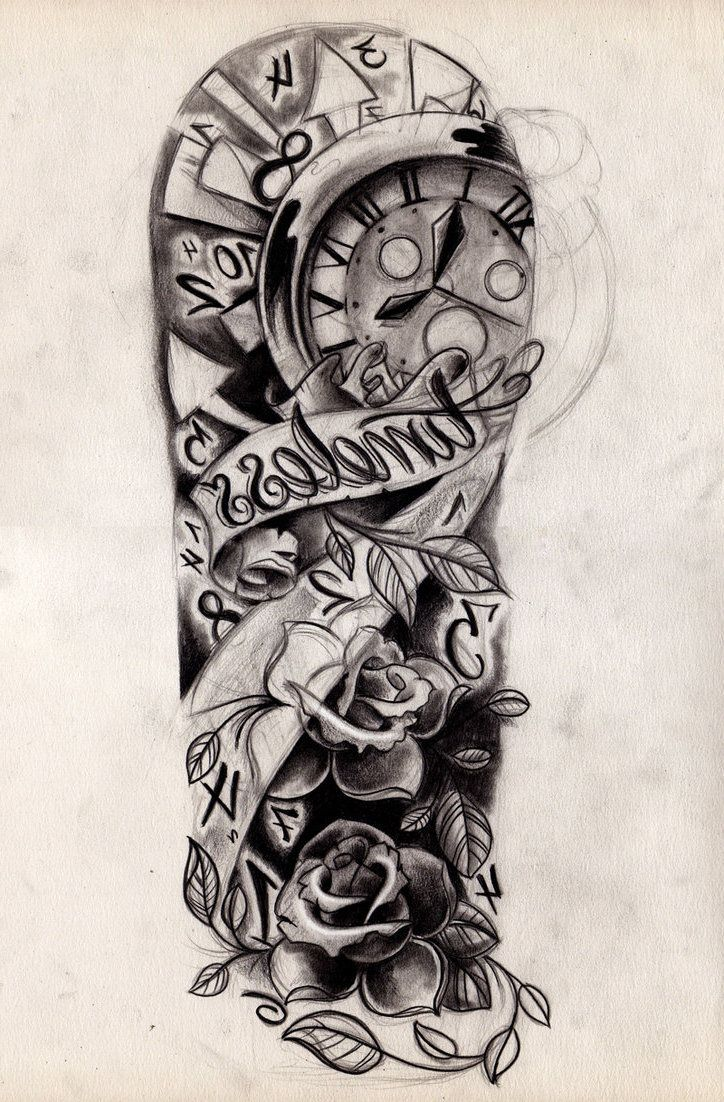 Mens Tattoo Sleeve Drawings: Images For > Tattoo Half Sleeve Girl Black And White