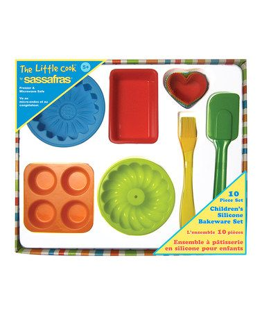 The Little Cook Bakeware Set By Sassafras Silicone Bakeware