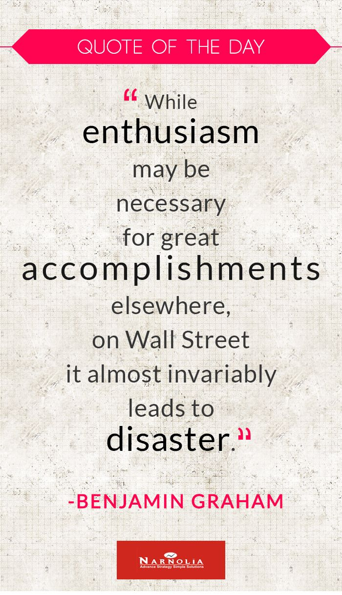 "Quote of The Day ""While enthusiasm may be necessary for"
