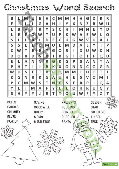 Christmas Word Search Christmas Word Search Christmas Words Christmas Teaching
