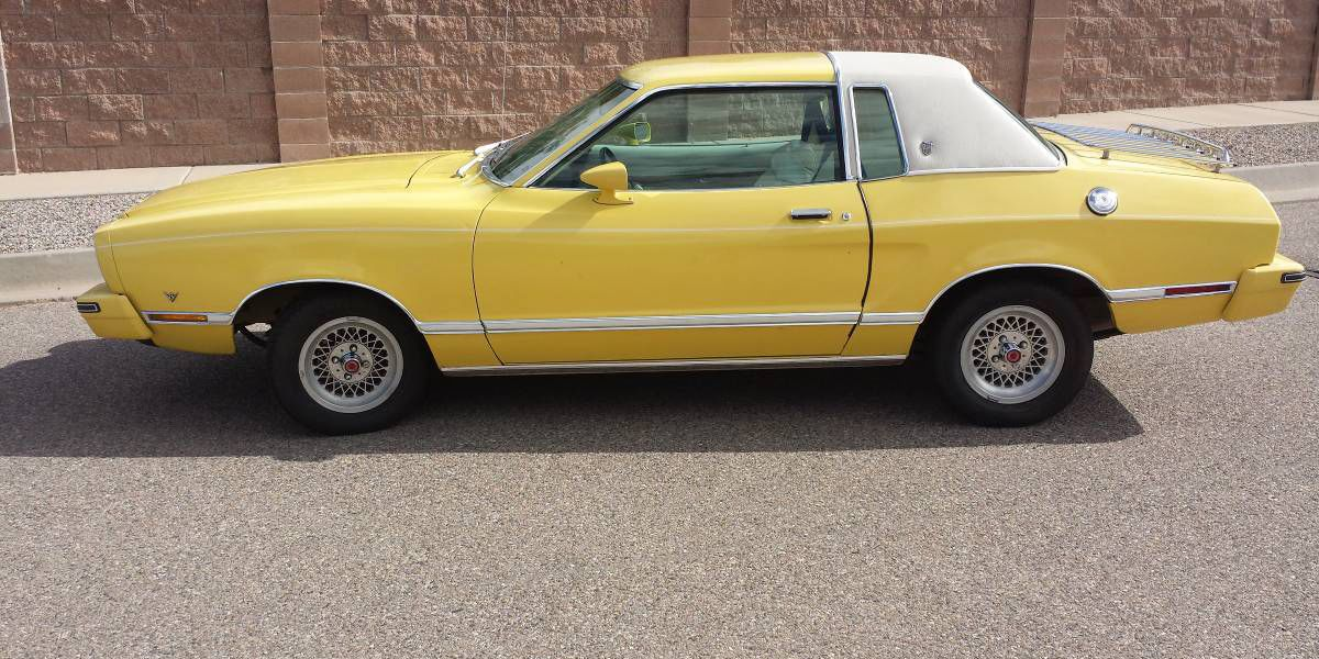 The Leisure Suit Of Cars 1977 Ford Mustang Ii Mustang Ii Ford Mustang Yellow Mustang