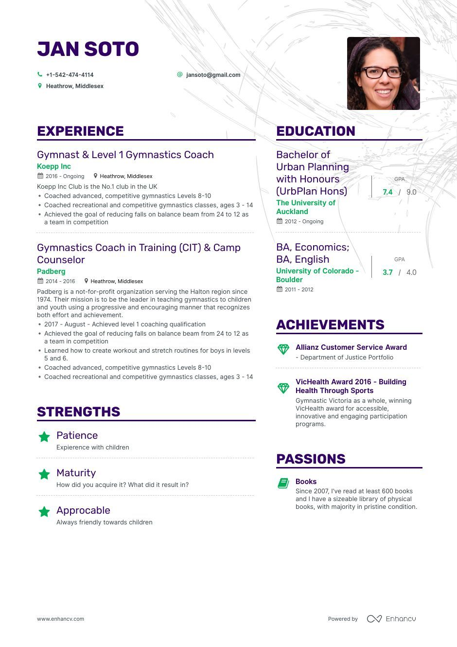 download  gymnastics coach resume example for 2020  with