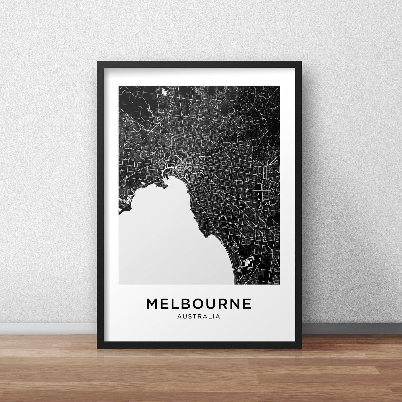 Melbourne map print melbourne map download city map melbourne