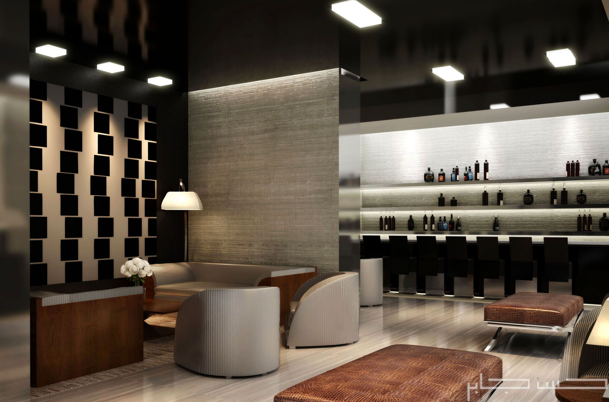 Images of upscale cigar lounges an armani style cigar lounge design proposal made for a - Moderne loungebar ...