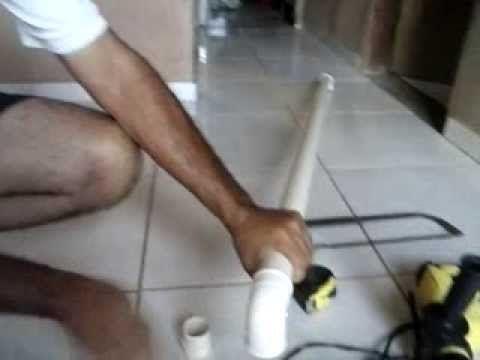 montagem de suporte para cortina com tubo PVC - YouTube