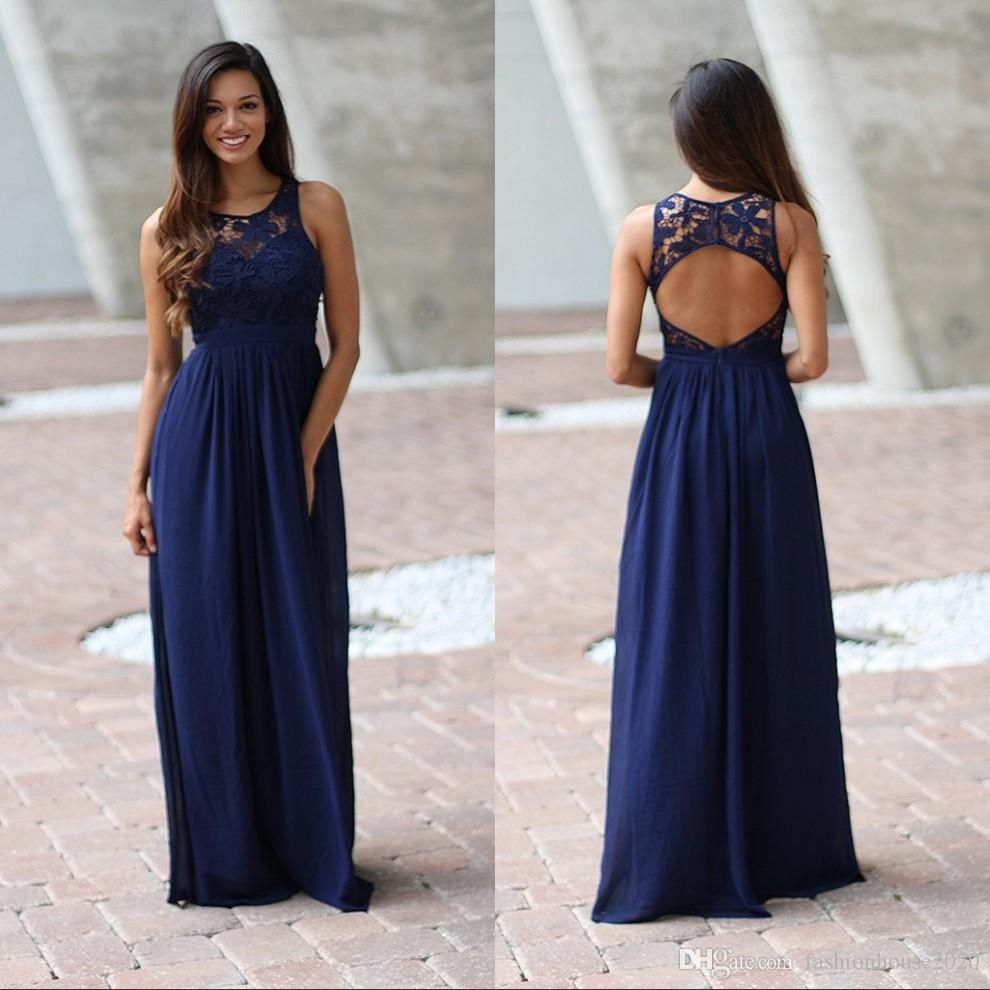 Elegant royal blue lace bridesmaid dresses scoop neck sexy