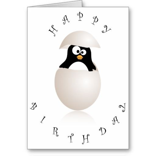 Cute Penguin Birthday Card Penguin Birthday Penguins And Birthdays