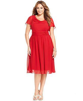 Plus Size Short Sleeve Cowl Neck Dress Mother Or Auntie Of The Bride Plus Size Fashion Plus Size Dresses Prom Dresses Modest