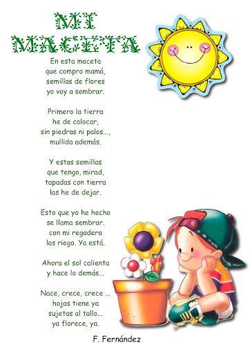 Poesias Infantiles Para Imprimir Poemas Cortos Para Niños