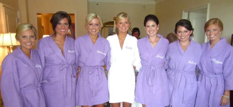 Personalized Purple Waffle Robe Bridesmaids Gifts Weave Robes 39 00 Via Etsy