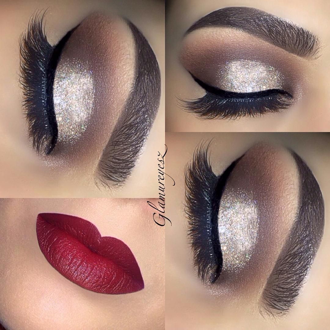 """""""Silver gold glitter glam ️💋' chocolate' on the inner and"""