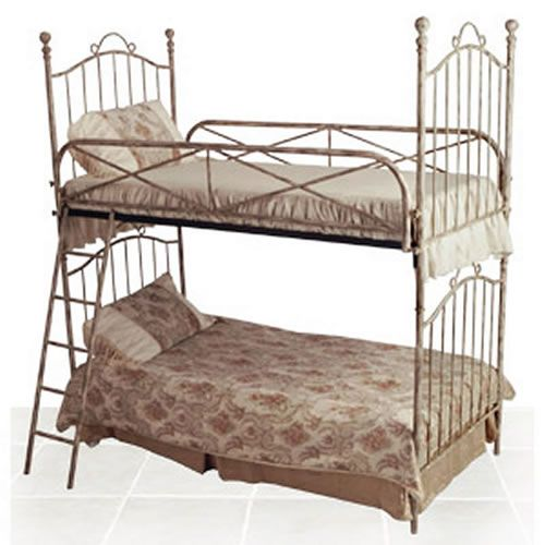 Vintage Iron Twin Bunk Bed