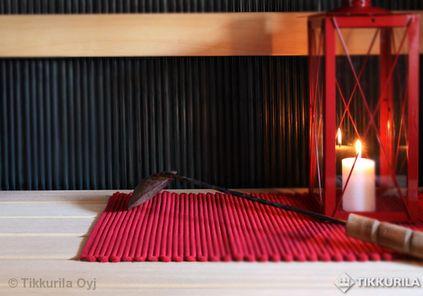 Savusaunan tunnelmaa   Kylpyhuone - Tikkurila Oyj   Kotimaalarit   Ideat