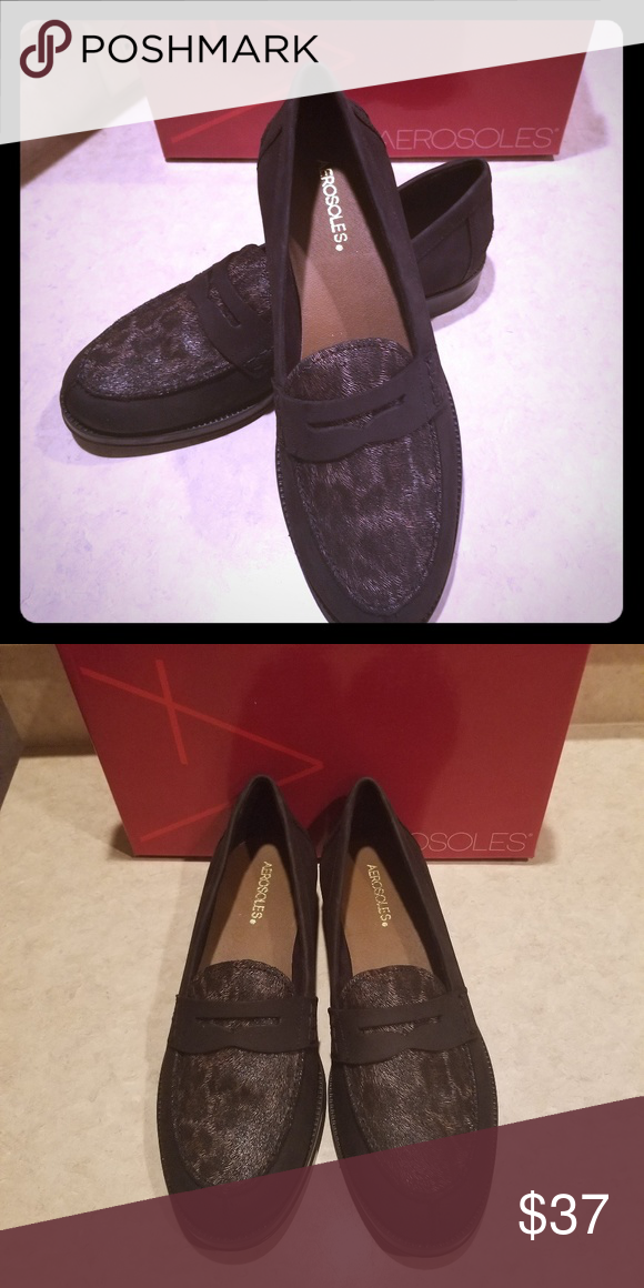 e72431231e0 Aerosoles Push Ups Black Nubuck. Size 10M. New. Original Box. Never worn. AEROSOLES  Shoes Flats   Loafers