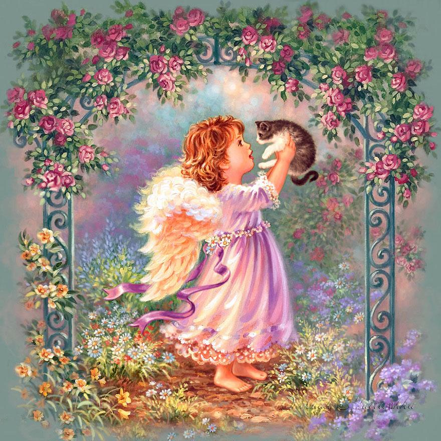 Открытки о любви ангелы