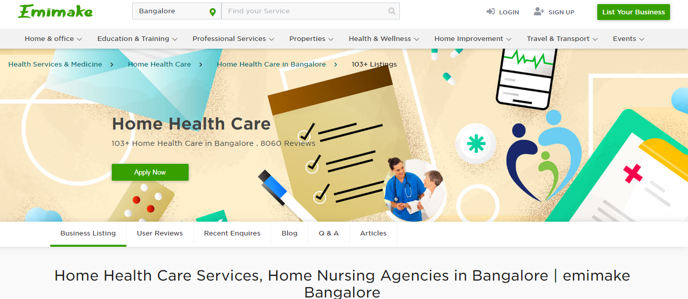 Home Health Care Services, Home Nursing Agencies in