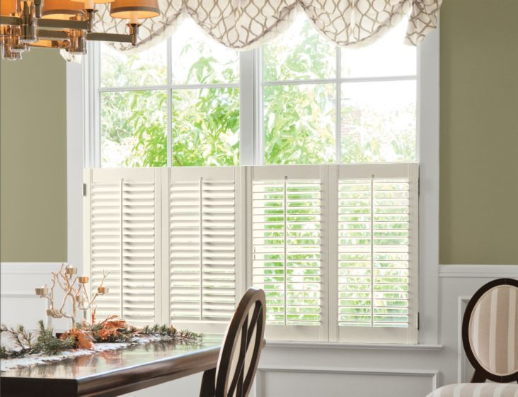 2 12 louver wood cafe shutters in eggshell 13577 shutters decor