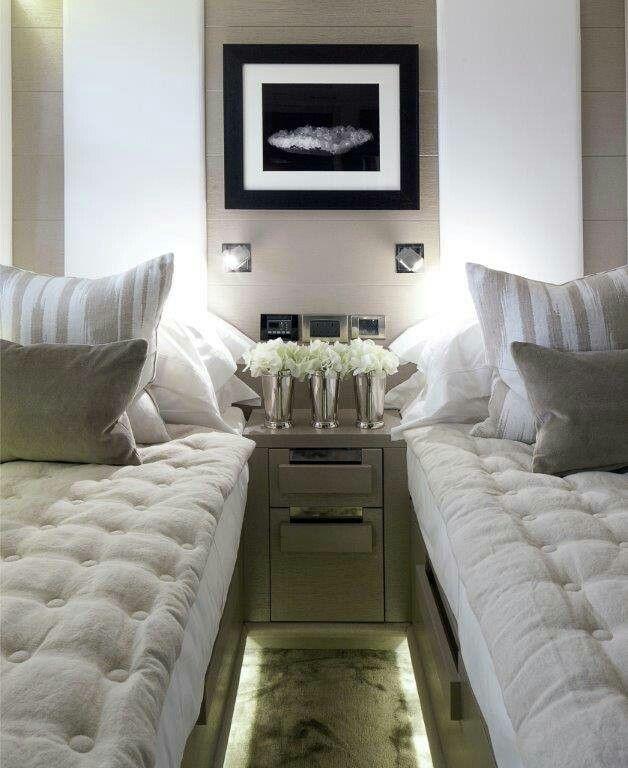 Teeny Tiny bedroom for 2 Kelly Hoppen