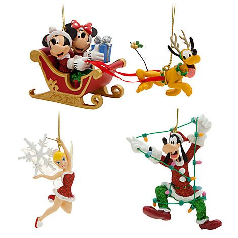 Your Wdw Store Disney Christmas Ornament Set Santa Mickey And Minnie In Disney Christmas Ornaments Friend Christmas Ornaments Disney Christmas Decorations