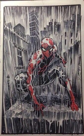 Spiderman In The Rain Spiderman Marvel Spiderman Spectacular Spider Man