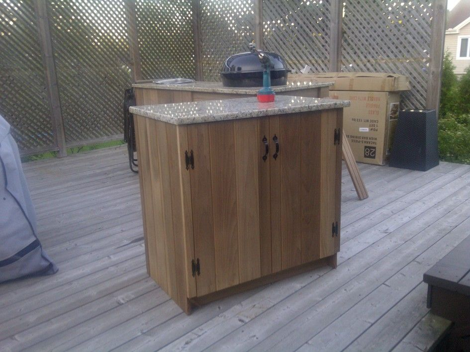 Incomparable charcoal outdoor kitchen island and for Outdoor kitchen cabinets