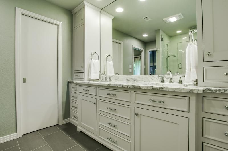 Traditional Master Bath Remodel - Countertop, Mirror | Traditional ...