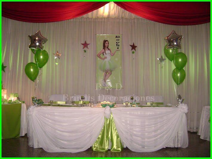 Xv anos decoraciones decoraciones con telas y globos for Decoracion con globos 50 anos