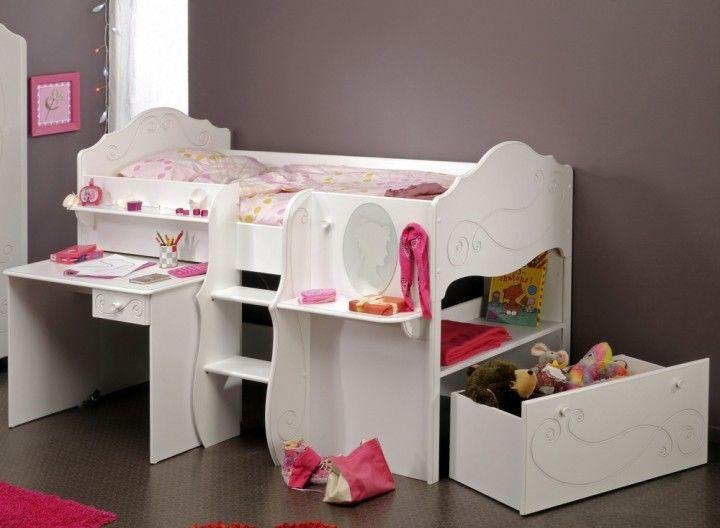 Multifunktionsbett Hochbett Anna #Hochbett #Multifunktionsbett #Bett #Weiß  #Schreibtisch