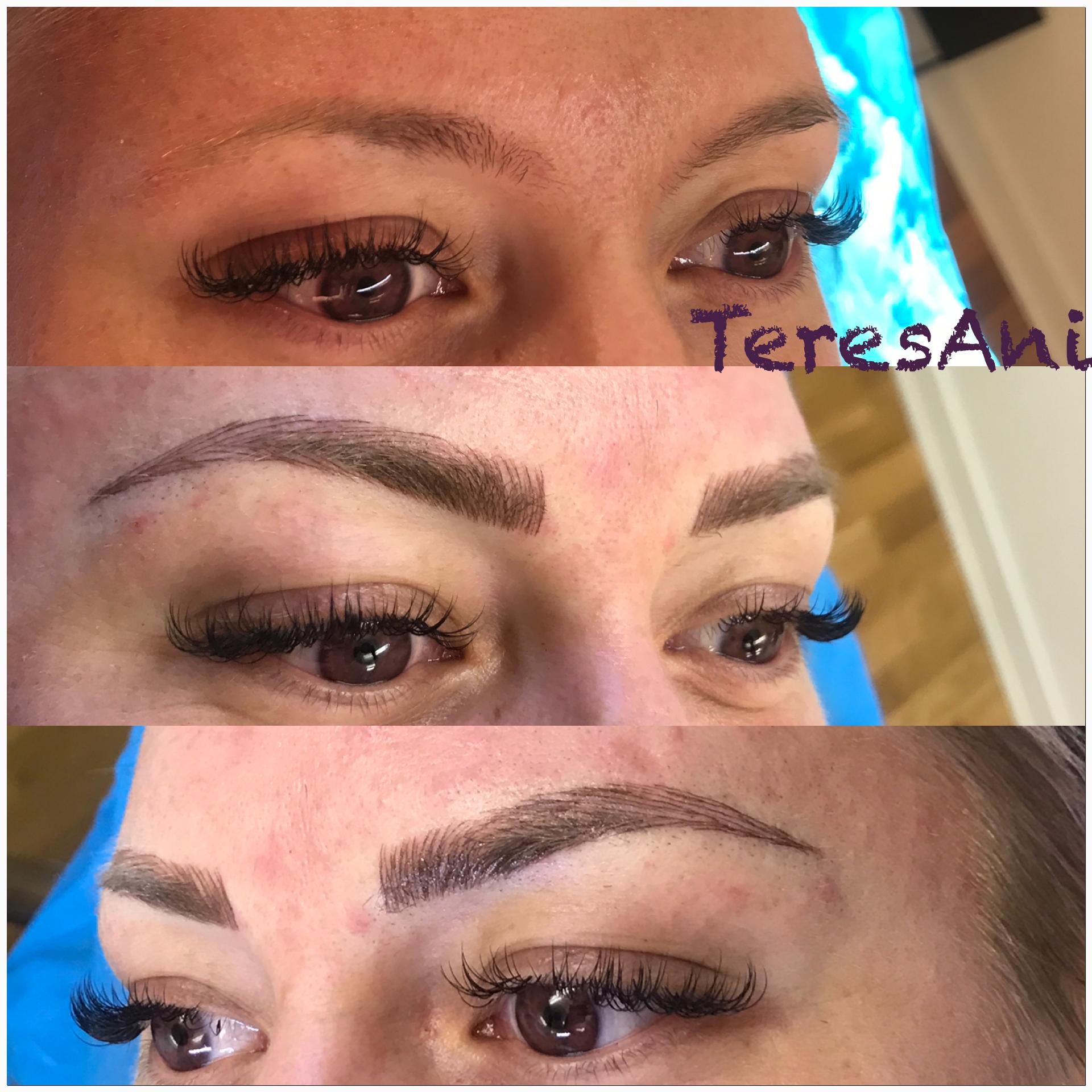 kosmetisk tatuering ögonbryn